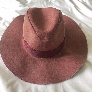 Zara Red Wide Brim Hat